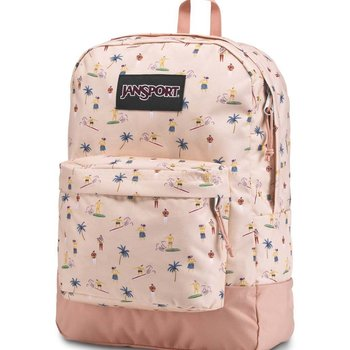 JANSPORT BLACK LABEL SUPERBREAK BACKPACK, TAN LINES (JS00T60G)