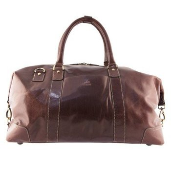MANCINI LEATHER CARRY ON BROWN (1409-03)
