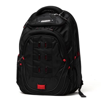 "SAMSONITE TECTONIC 17"" PERFECT FIT LAPTOP BACKPACK, BLACK/RED (51531-1073)"