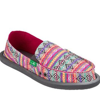 SANUK SANUK DONNA MAGENTA MULTI TRIBAL STRIPE