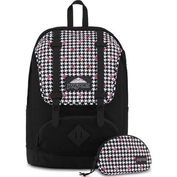 JANSPORT DISNEY BAUGHMAN BACKPACK, MINNIE WHITE HOUNDSTOOTH (JS0A3BAW)