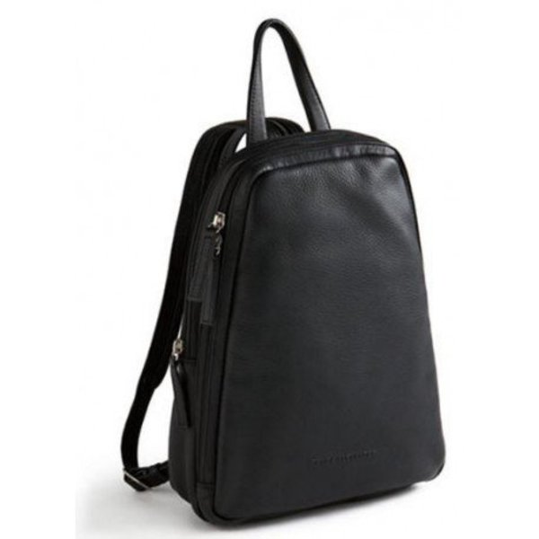 671bc37cb Derek Alexander North/South Small Leather Backpack/Sling, Black (CP ...
