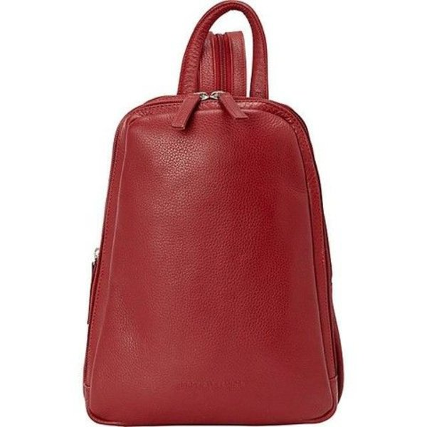 DEREK ALEXANDER NS SMALL LEATHER BACKPACK/SLING, RED (CP-8666)