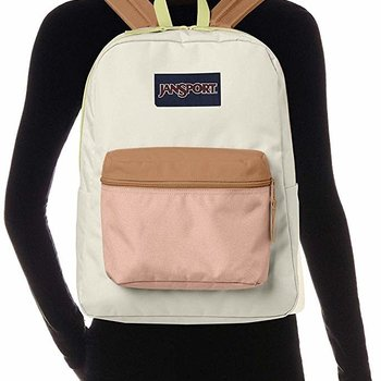 JANSPORT EXPOSED BACKPACK, SOFT TAN/LIMADE (JS0A33SB)