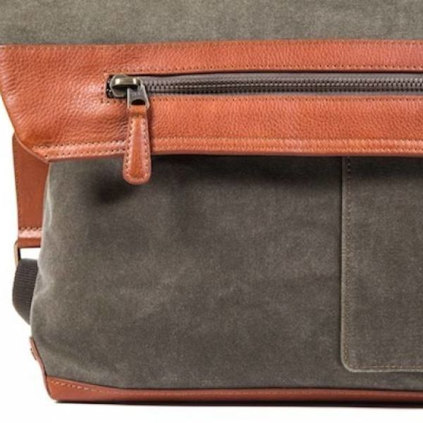 CONTINENTAL MESSENGER, FAB/LEATHER (6006-394) OLIVE
