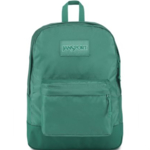 JANSPORT MONO SUPERBREAK BACKPACK, BLUE SPRUCE GREEN (JS0A3P6X)