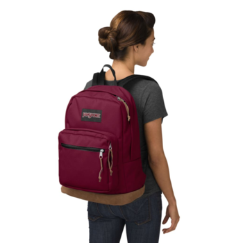 JANSPORT RIGHT PACK BACKPACK, RUSSET RED (JS00TYP7)