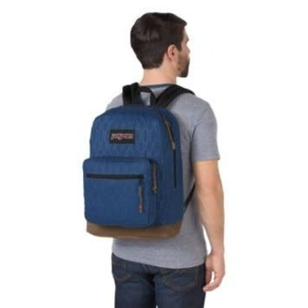 JANSPORT RIGHT PACK DIGITAL EDITION LAPTOP BACKPACK, NAVY HEX HIVE (JS00T58T)
