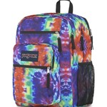 JANSPORT BIG STUDENT BACKPACK, RED/MULTI HIPPIE DAYS (JS0A47JK)