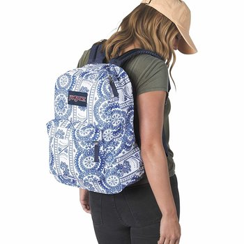 JANSPORT SUPERBREAK BACKPACK, WHITE SWEDISH LACE (JS00T501)