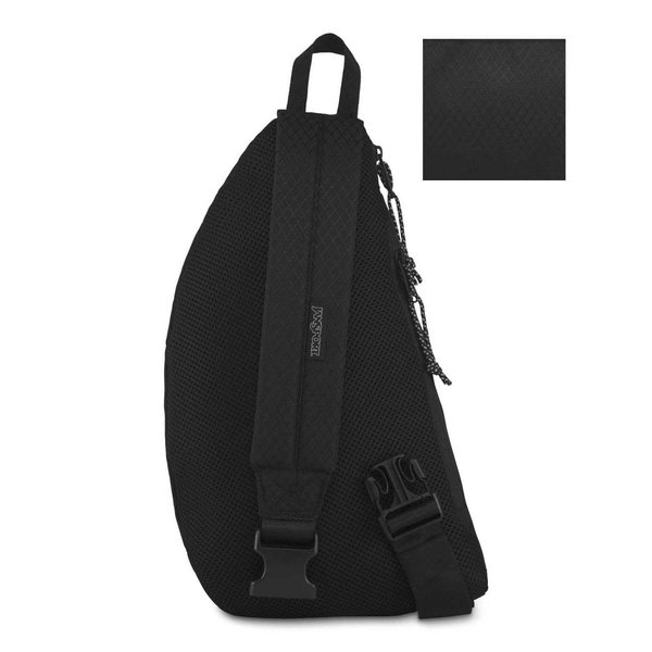 JANSPORT CITY SLING CROSSBODY BAG, BLACK TOP (JS0A3P5K)