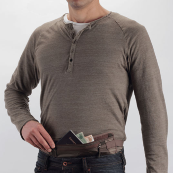 EAGLE CREEK UNDERCOVER MONEY BELT DLX MOCHA