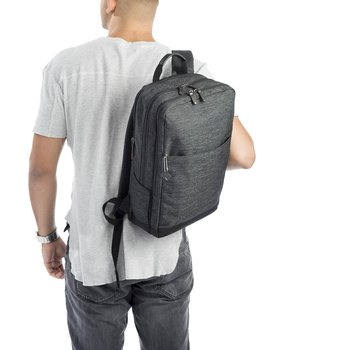 "HEDGREN RULE SQUARE BACKPACK 15.6"" (HWALK05) ASPHALT"