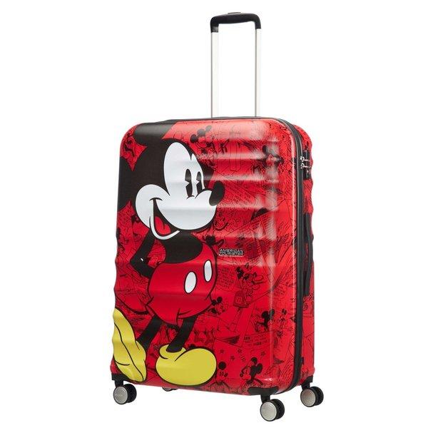 AMERICAN TOURISTER DISNEY WAVEBREAKER MICKEY COMICS RED LARGE SPINNER (85673-6976)