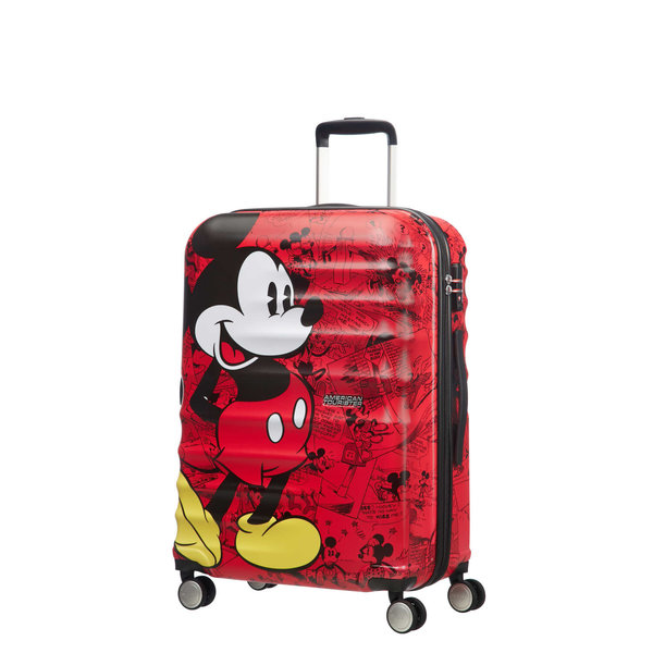 AMERICAN TOURISTER DISNEY WAVEBREAKER MICKEY COMICS RED MEDIUM SPINNER (85670-6976)