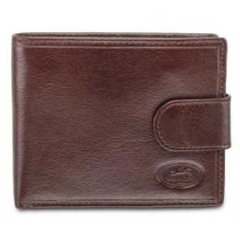 MANCINI DELUXE MEN'S RFID WALLET W/ COIN POCKET, BROWN (52155)