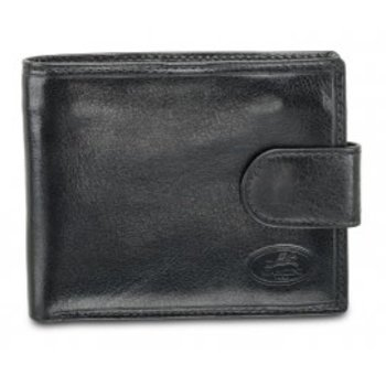 MANCINI DELUXE MEN'S RFID WALLET W/ COIN POCKET, BLACK (52155)