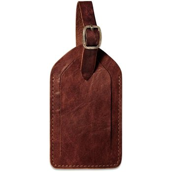 Jack Georges VOYAGER LEATHER LUGGAGE TAG BROWN (7101)