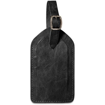 Jack Georges VOYAGER LEATHER LUGGAGE TAG BLACK (7101)
