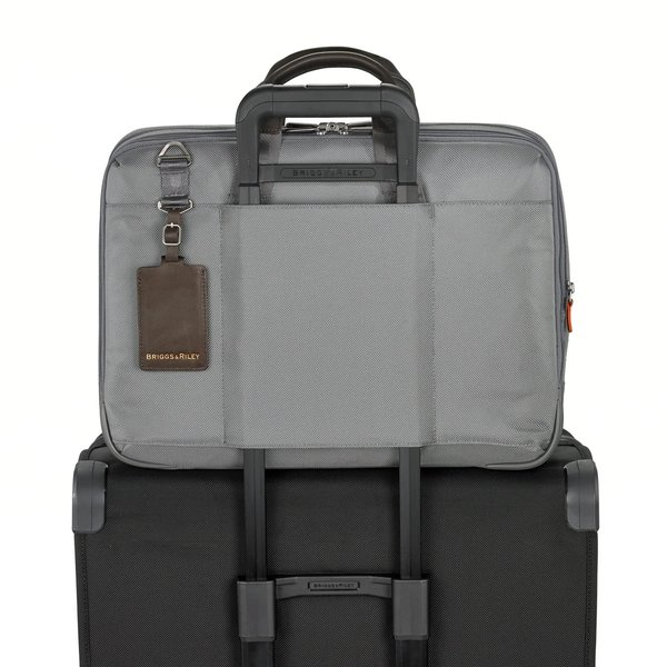 BRIGGS & RILEY @WORK LARGE EXPANADABLE BRIEFCASE (KB437X) GREY