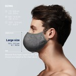 PACSAFE SILVER iON WASHABLE FACE MASK (1016