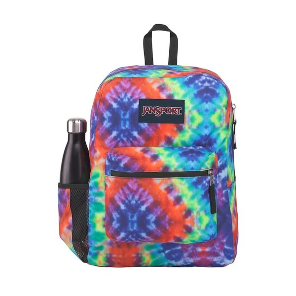 JANSPORT CROSS TOWN BACKPACK (JS0A47LW) RED/MULTI HIPPIE DAYS