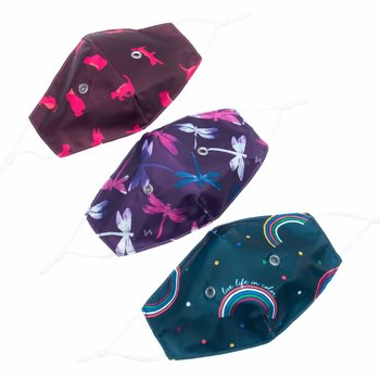 LUG BEAKER 2 FACE MASK 3PK CHEERFUL PRINTS SET