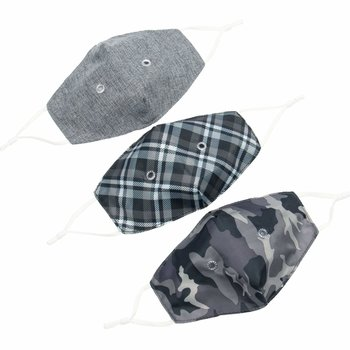 LUG BEAKER 2 FACE MASK 3PK GREYS SET