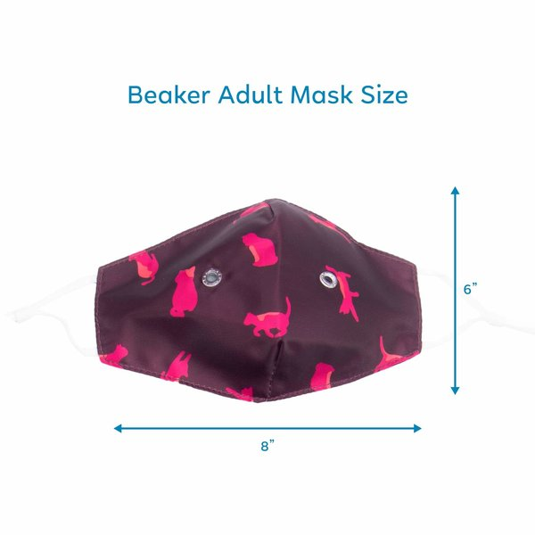LUG BEAKER 2 FACE MASK 3PK RAINBOW NAVY
