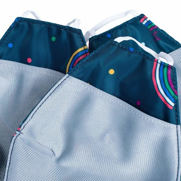 LUG BEAKER 2 FACE MASK 3PK RAINBOW NAVY