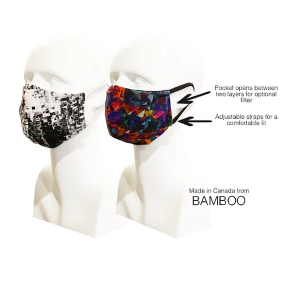 WATUKO HEADGEAR MADE IN CANADA BAMBOO FACE MASK