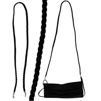 BLACK SUEDE MASK LANYARD (ALP801)