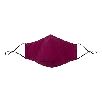SWISS MOBILITY WASHABLE COTTON FACE MASKS 2PK WITH 1FILTER (TAC1139SM BURGUNDY/BURGUNDY)