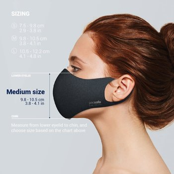 PACSAFE VIRALOFF REUSABLE FACE MASK (1016 MEDIUM