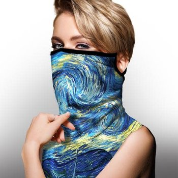 GALLERIA FACE SCARF W/ EAR LOOPS VAN GOGH STARRY NIGHT (843109)