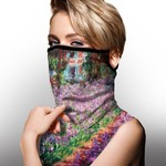 GALLERIA FACE SCARF W/ EAR LOOPS MONET GARDEN (843107)