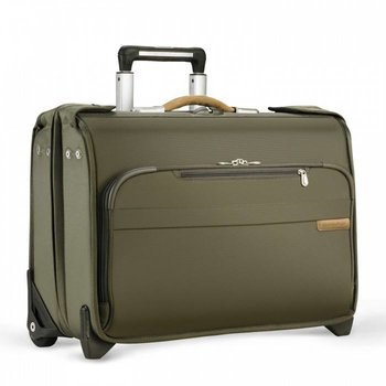 BRIGGS & RILEY BASELINE CARRY-ON WHEELED GARMENT BAG, OLIVE (U174)