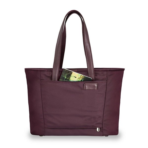 BRIGGS & RILEY BASELINE LARGE SHOPPING TOTE (255) PLUM