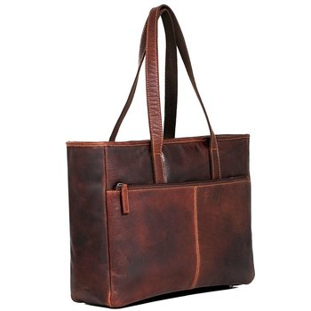 Jack Georges VOYAGER BUSINESS TOTE, BROWN (7917)