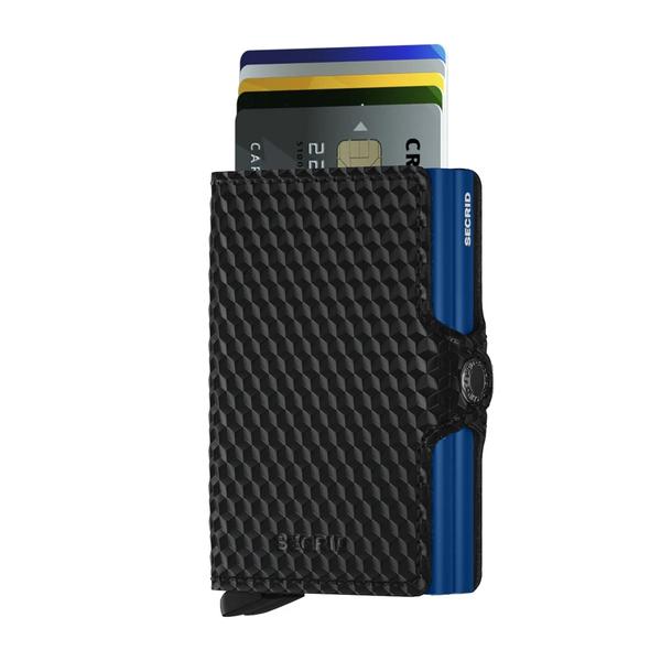 SECRID TWINWALLET CUBIC BLACK-BLUE