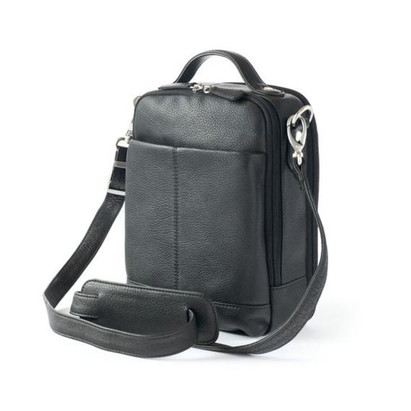 OSGOODE MARLEY MENS CLASSIC LEATHER CARRY-ALL, BLACK (4029)