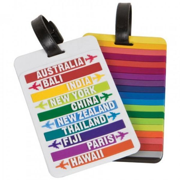 TRAVELON SET OF 2 LUGGAGE TAGS, HOT SPOTS (12740)