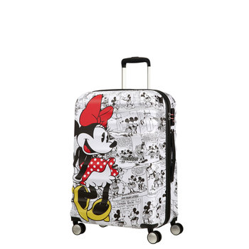 AMERICAN TOURISTER DISNEY WAVEBREAKER MINNIE COMICS WHITE MEDIUM SPINNER (85670-7484)