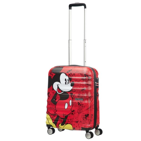 AMERICAN TOURISTER DISNEY WAVEBREAKER CARRY-ON (85667) MICKEY COMICS RED