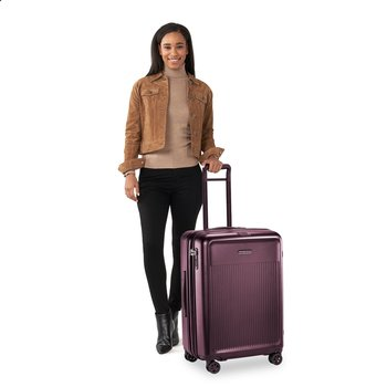 BRIGGS & RILEY SYMPATICO 2.0 MEDIUM EXP SPINNER (SU227CXSP -64) MATTE PLUM