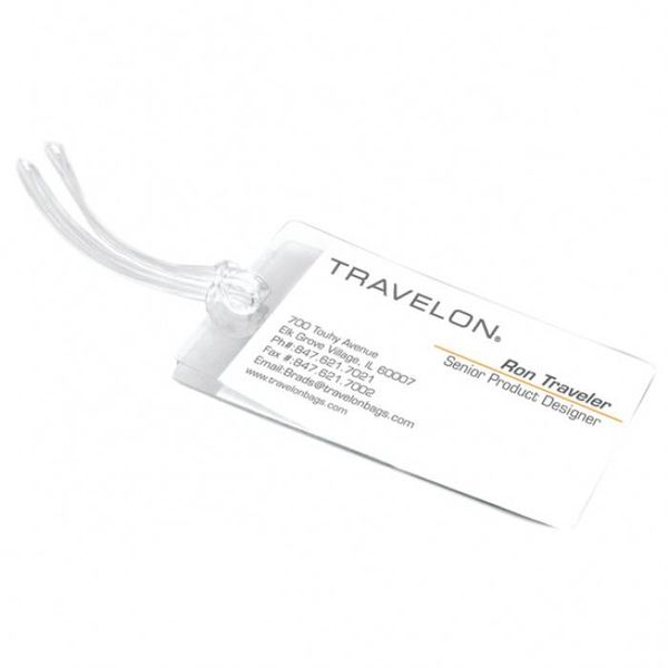 TRAVELON SET OF 3 SELF-LAMINATING LUGGAGE TAGS (19330)