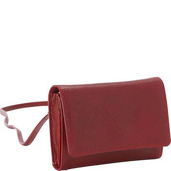 DEREK ALEXANDER SMALL ORGANIZER BAG/WALLET BR8005 RED