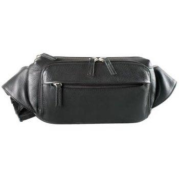 DEREK ALEXANDER WAIST BAG FOUR ZIP POCKETS FN9010 BLACK