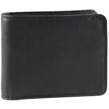 DEREK ALEXANDER BILLFOLD/CREDIT CARD WITH WING TU832N BLACK