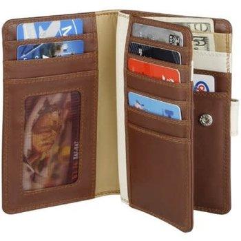 DEREK ALEXANDER LADIES 3 PART SLIM SHOW CARD TAB CLOSE ZIP CHANGE TU745-N BLACK